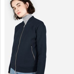 EUC Everlane street fleece bomber jacket Sz S